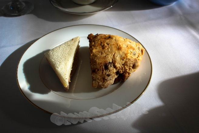 tea sandwich and scone